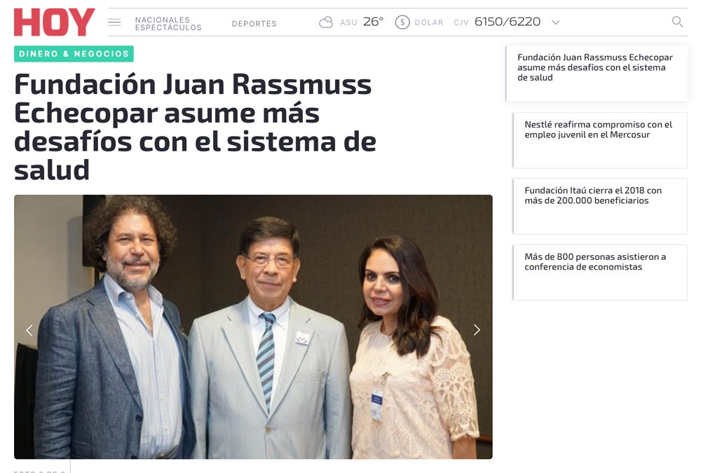 Fundación Juan Rassmuss Echecopar asumes more challenges with health system