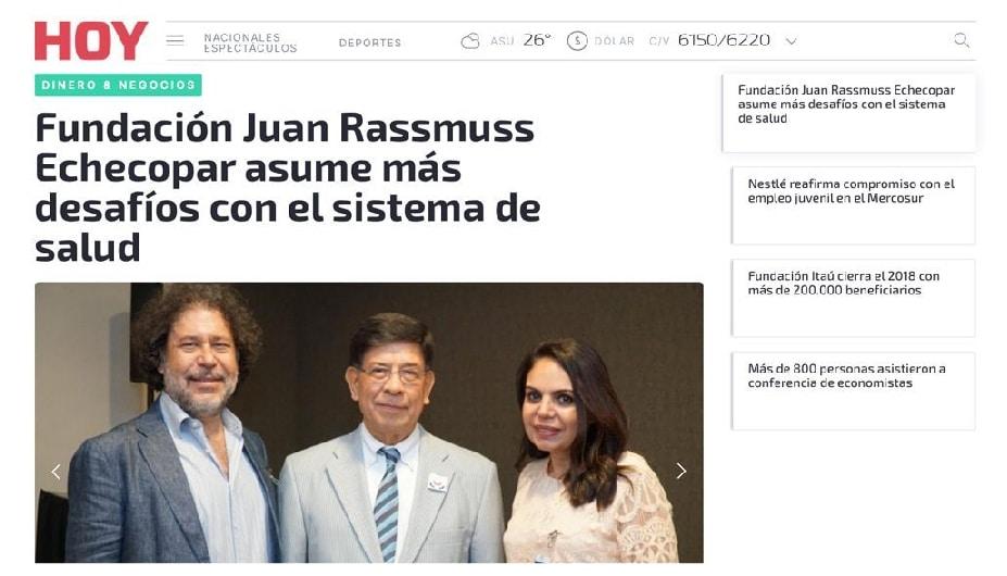 Fundación Juan Rassmuss Echecopar asume más desafíos con el sistema de salud